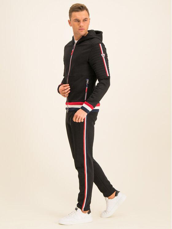 Rossignol Rossignol Spodnie dresowe Track Cuit Sweat RLHMP38 Czarny Regular Fit