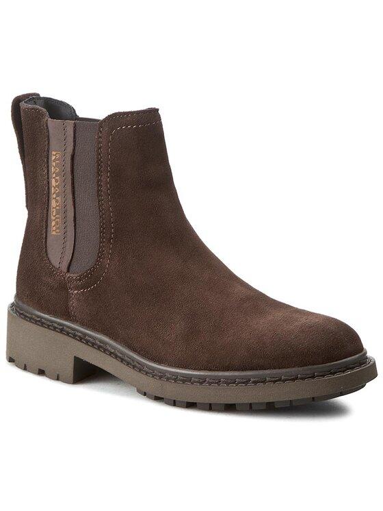 Napapijri Napapijri Členková obuv s elastickým prvkom Reese 13743505 Hnedá