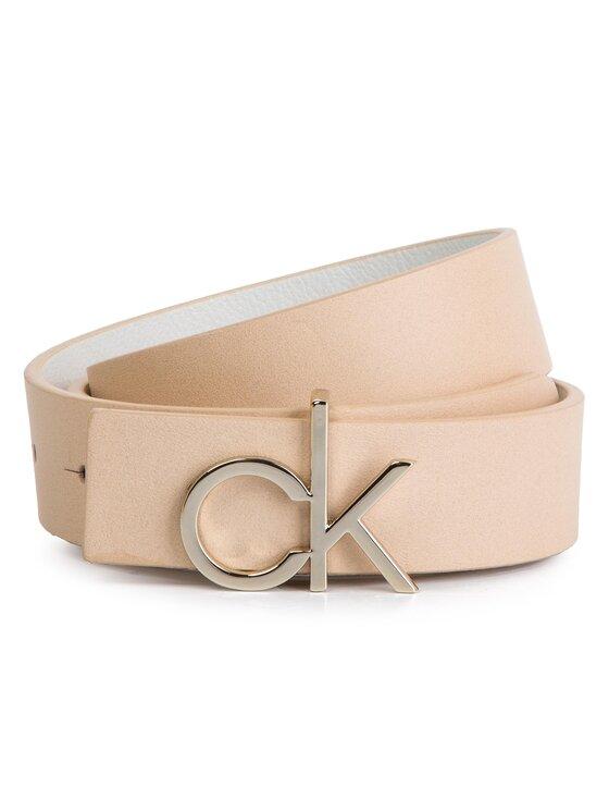 Calvin Klein Calvin Klein Dámsky opasok 3 Cm Ck Rev.Giftpack K60K605158 Béžová