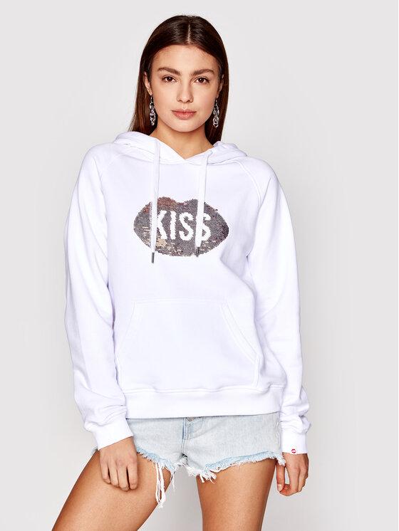PLNY LALA Džemperis Kiss PL-BL-HO-00047 Balta Regular Fit