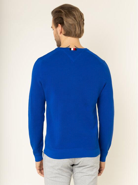 Tommy Hilfiger Tommy Hilfiger Sweater Ricecorn MW0MW11659 Sötétkék Slim Fit