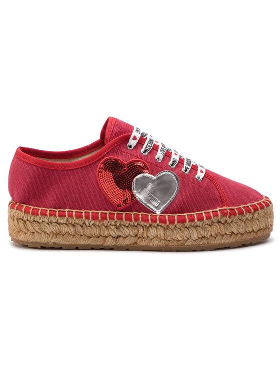 LOVE MOSCHINO LOVE MOSCHINO Espadrilky JA10263G07JJ0500 Červená