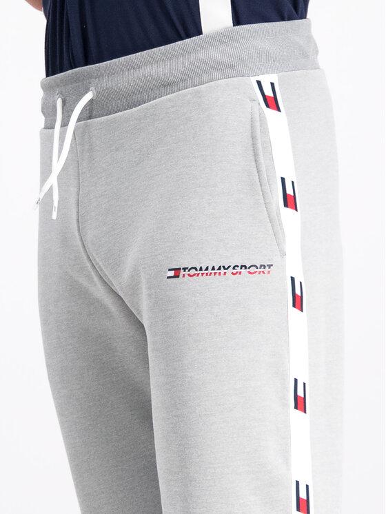 Tommy Sport Tommy Sport Spodnie dresowe S20S200118 Szary Regular Fit