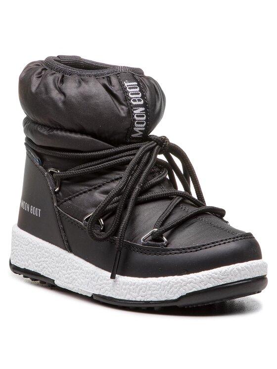Moon Boot Sniego batai Jr Girl Low Nylon Wp 34051800001 Juoda