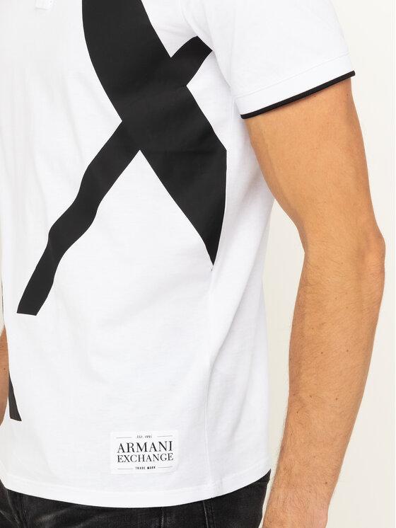 Armani Exchange Armani Exchange Polo 3HZFFB ZJH4Z 7127 Biały Slim Fit