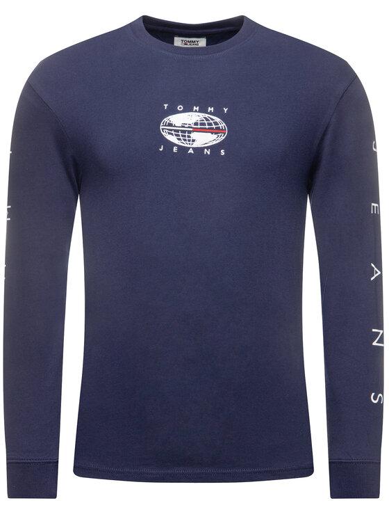Tommy Jeans Tommy Jeans Longsleeve Novel Logo DM0DM07437 Blu scuro Regular Fit