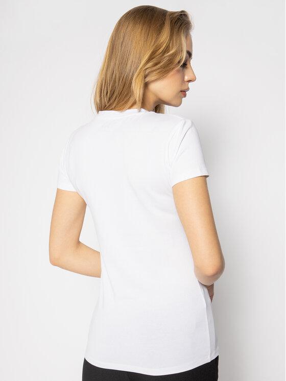 Guess Guess Marškinėliai Icon W94I65 K7DE0 Balta Regular Fit