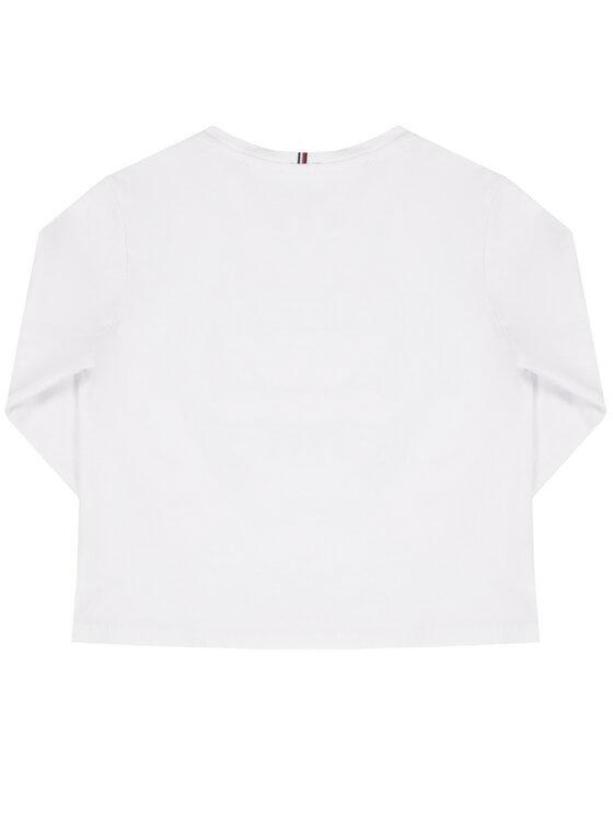 Tommy Hilfiger Tommy Hilfiger Блуза Foil Flag KG0KG04892 M Бял Regular Fit