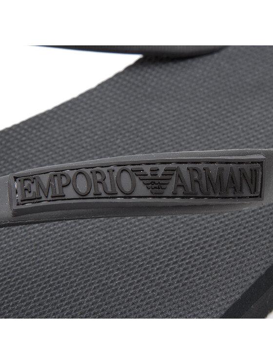 Emporio Armani Emporio Armani Šlepetės per pirštą X4QS02 XL827 00007 Juoda