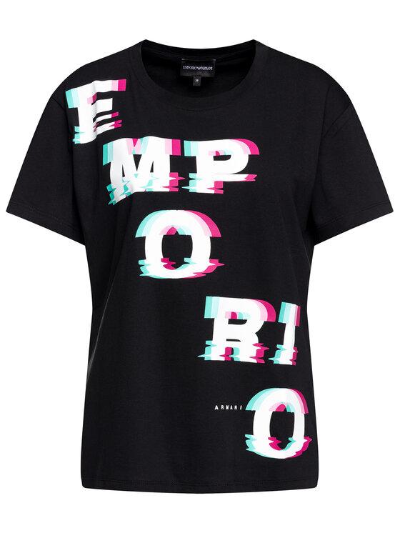 Emporio Armani Emporio Armani T-Shirt 6G2T7F 2J06Z 0999 Černá Regular Fit