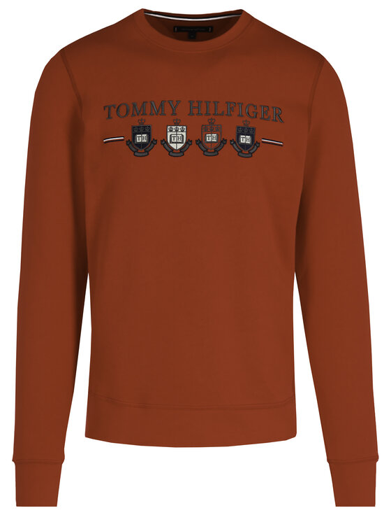 TOMMY HILFIGER TOMMY HILFIGER Džemperis Multi Crest MW0MW12108 Raudona Regular Fit