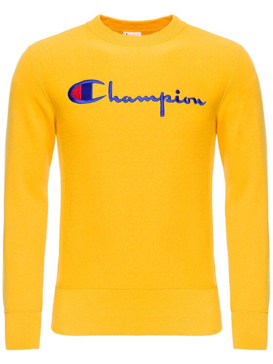 Champion Champion Суитшърт 212576 Жълт Regular Fit