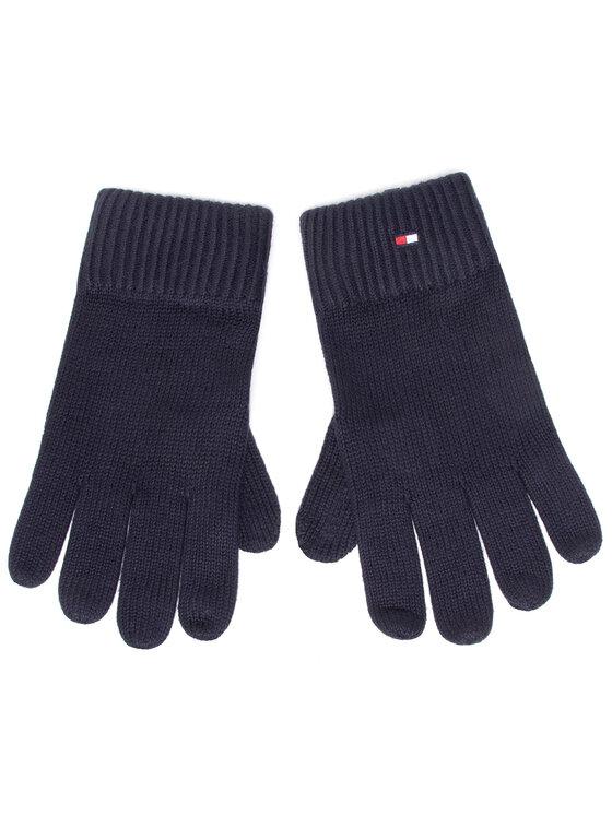 Tommy Hilfiger Tommy Hilfiger Rękawiczki Męskie Pima Cotton Gloves AM0AM06591 Granatowy