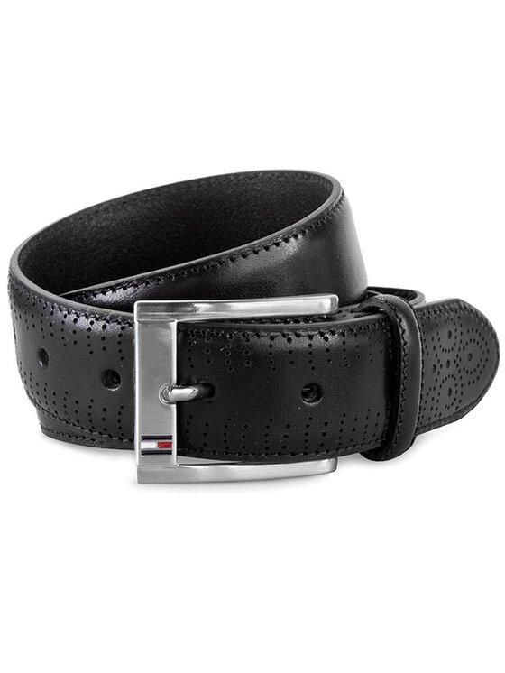 Tommy Hilfiger Tommy Hilfiger Мъжки колан Tiago Belt 3.5 Adj AM0AM00442 Черен