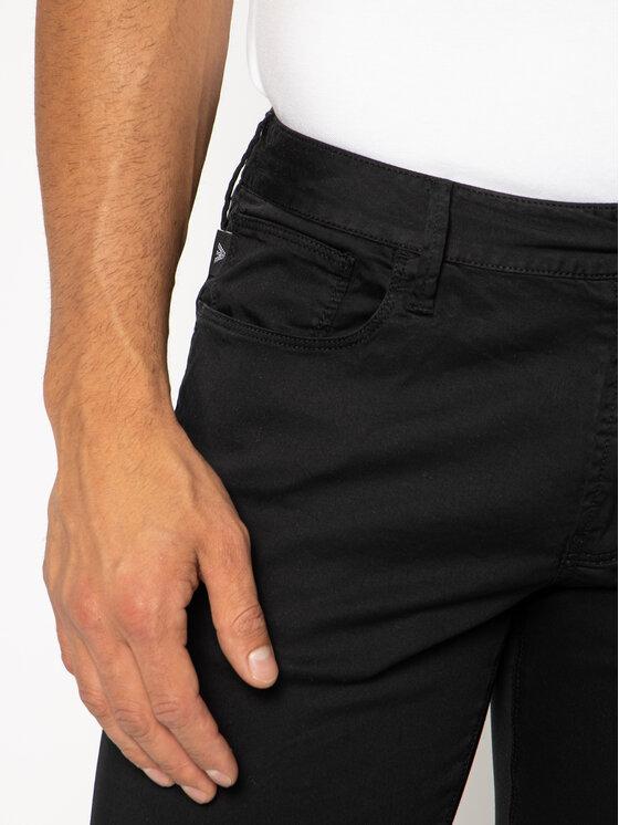 Emporio Armani Emporio Armani Medžiaginės kelnės 3H1J06 1NEDZ 0999 Juoda Slim Fit