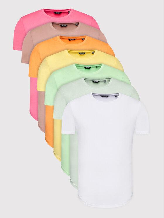 Only & Sons 7 marškinėlių komplektas Matt Life Longy 22012787 Spalvota Regular Fit