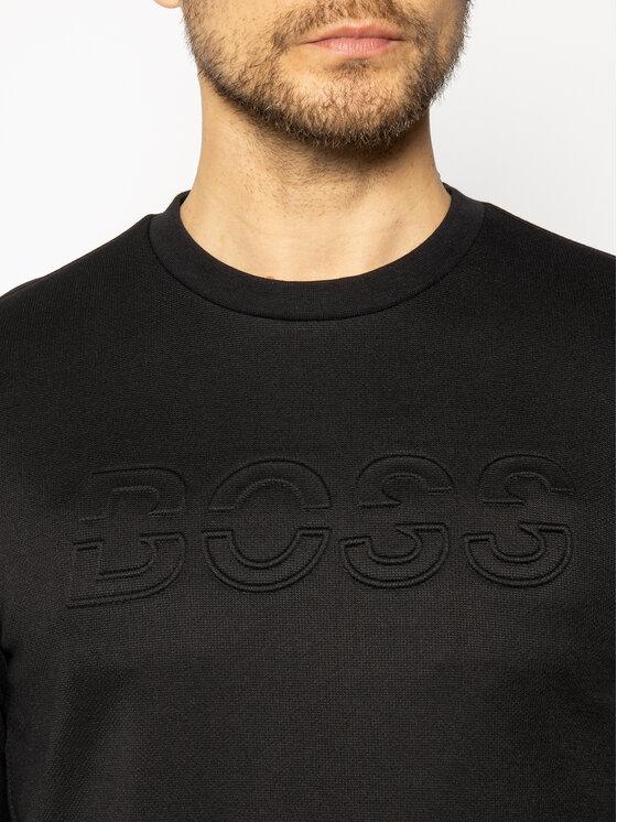 Boss Boss Суитшърт Saltech 50427796 Черен Regular Fit