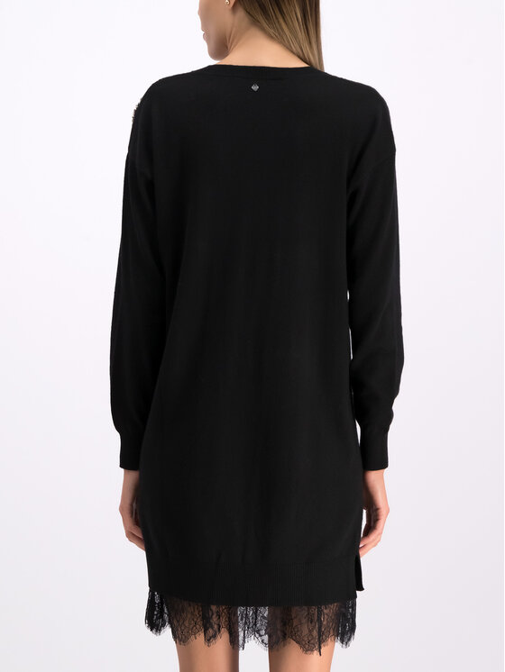 TwinSet TwinSet Každodenné šaty 192TP3331 Čierna Regular Fit