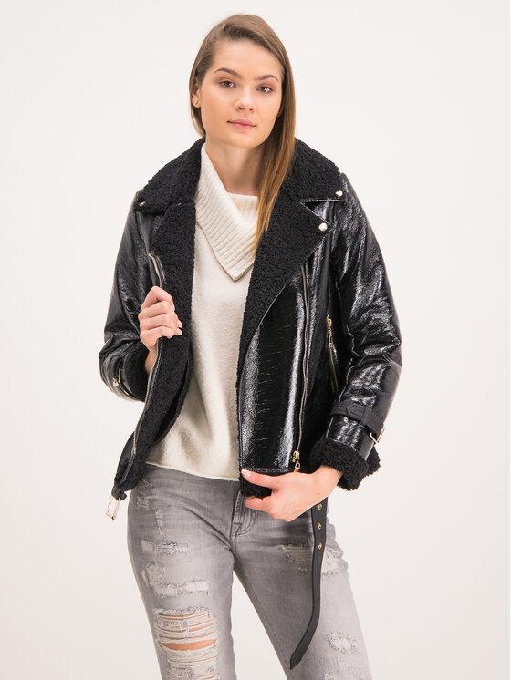 TWINSET TWINSET Veste en simili cuir 192MT2030 Noir Regular Fit