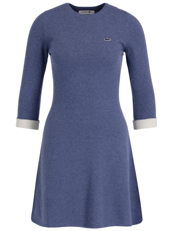 Lacoste Lacoste Kleid für den Alltag EF1930 Dunkelblau Regular Fit