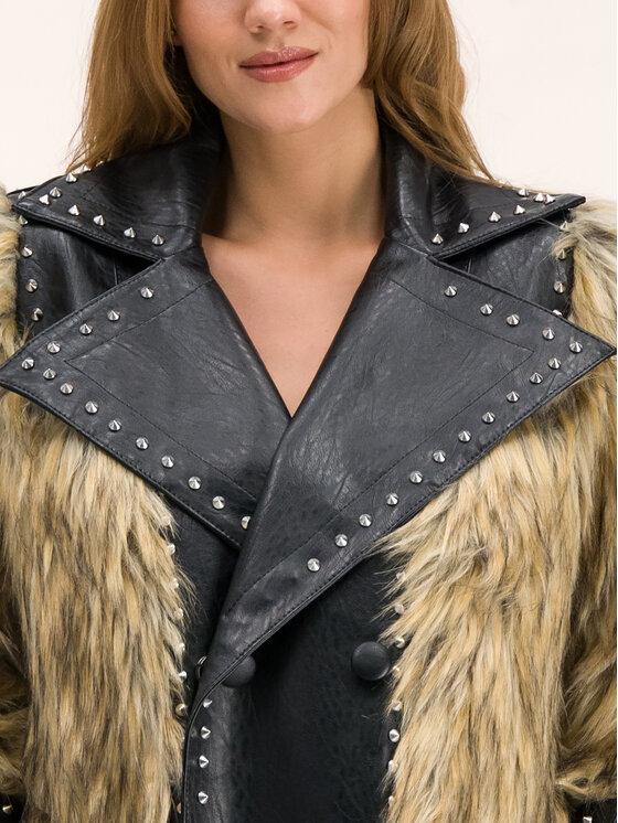 Silvian Heach Silvian Heach Кожено палто Thabile CVA19012CP Черен Regular Fit