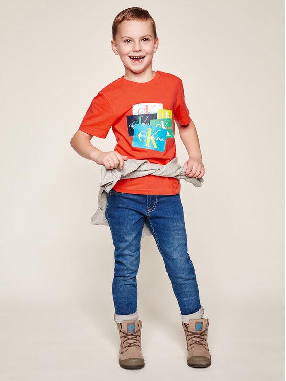Calvin Klein Jeans Calvin Klein Jeans T-shirt IB0IB00214 Arancione Regular Fit