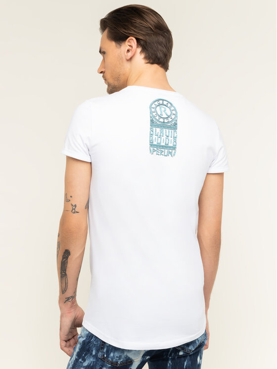 Rage Age Rage Age T-shirt Perun Blanc Slim Fit