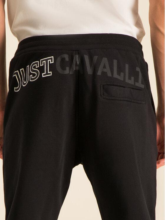 Just Cavalli Just Cavalli Παντελόνι φόρμας S03KA0198 Μαύρο Regular Fit