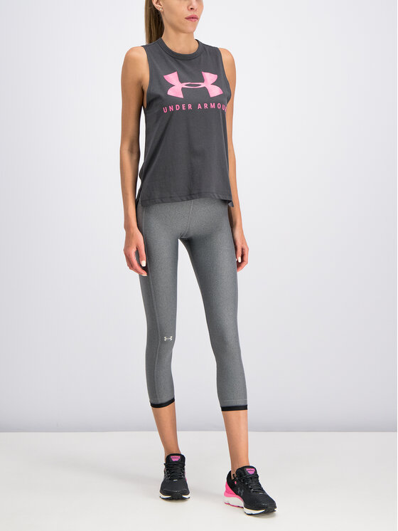 Under Armour Under Armour Marškinėliai UA Sportstyle Graphic Muscle 1344150 Pilka Regular Fit
