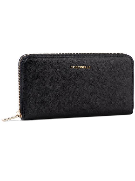 Coccinelle Coccinelle Nagy női pénztárca EW1 Metallic Safiano E2 EW1 11 04 01 Fekete