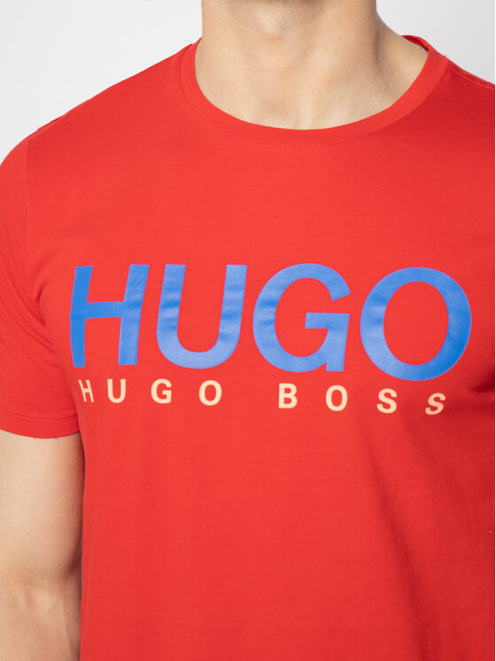 Hugo Hugo T-Shirt Dolive202 50424999 Rot Regular Fit