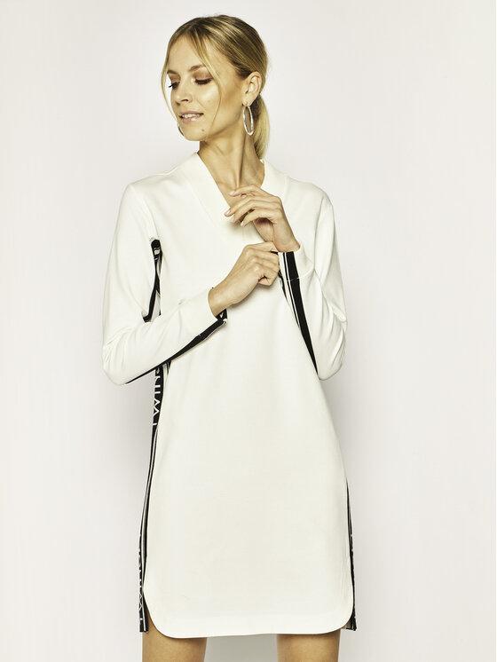 TwinSet Sukienka dzianinowa 201TP2073 Beżowy Regular Fit