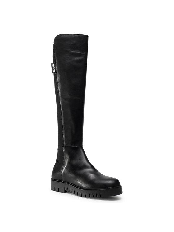 Tommy Jeans Batfortai Double Detail Long Boot EN0EN01084 Juoda