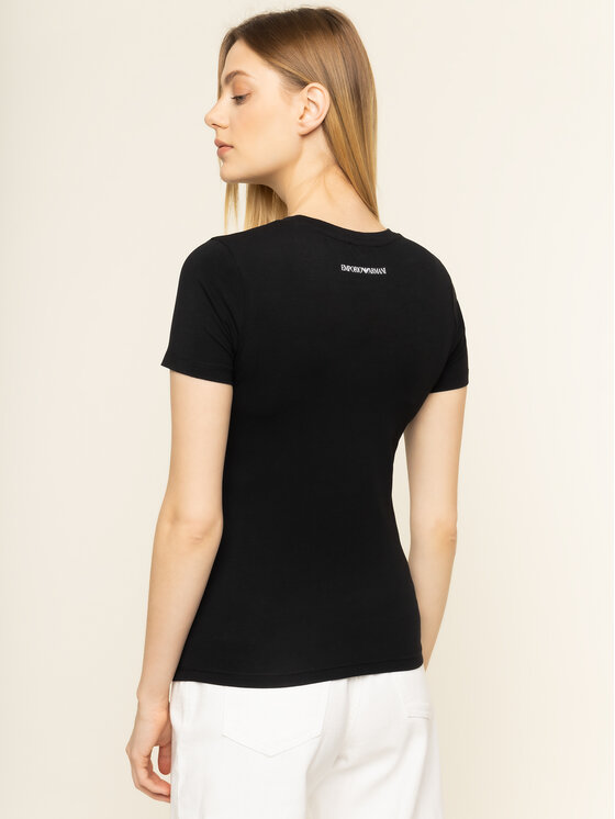 Emporio Armani Emporio Armani T-Shirt 3H2T8A 2J07Z 0999 Czarny Slim Fit