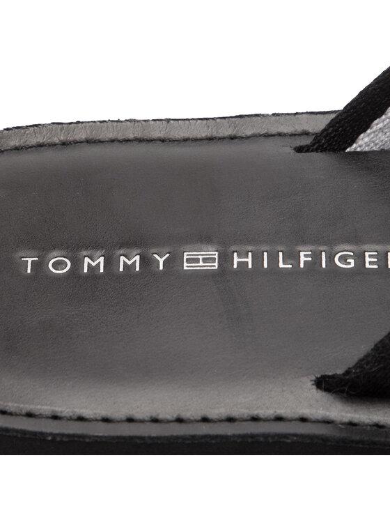 Tommy Hilfiger Tommy Hilfiger Žabky Elevated Leather Beach Sandal FM0FM02080 Čierna