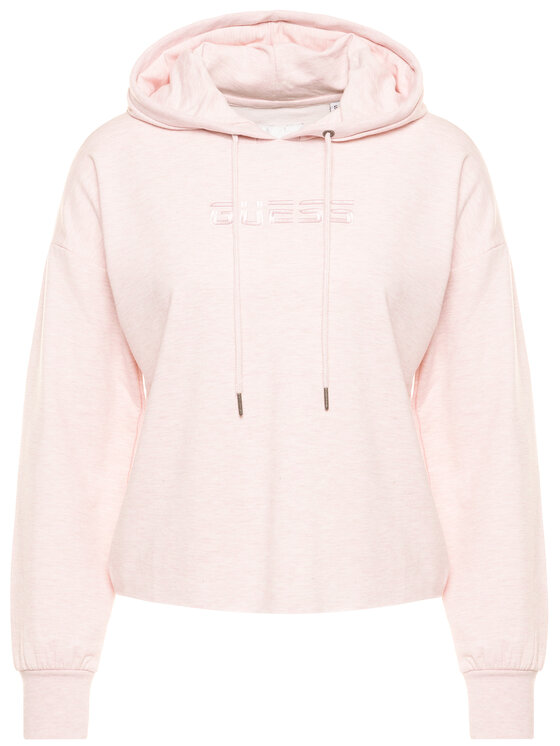 Guess Guess Bluza O02Q00 FL03G Różowy Regular Fit