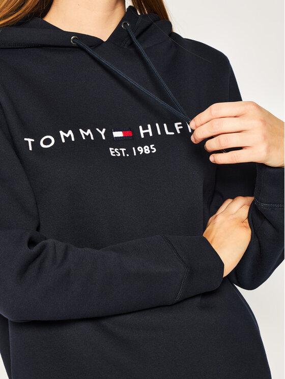 Tommy Hilfiger Tommy Hilfiger Mikina Ess WW0WW26410 Tmavomodrá Regular Fit