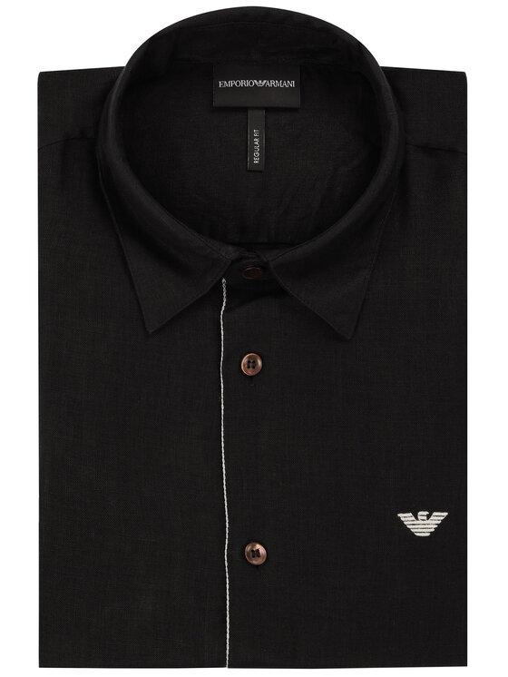 Emporio Armani Emporio Armani Marškiniai 3H1CP5 1NJIZ 0100 Juoda Regular Fit