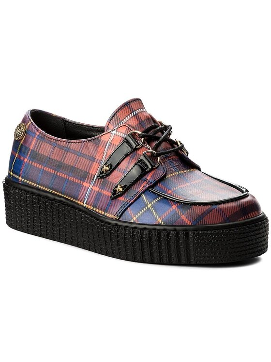 TOMMY HILFIGER TOMMY HILFIGER Обувки Gigi Hadid Creeper Shoe FW0FW02200 Червен