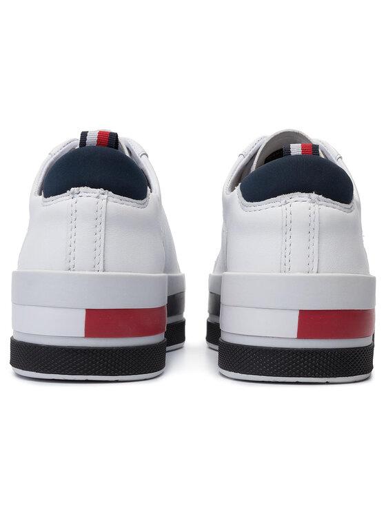 Tommy Hilfiger Tommy Hilfiger Sneakersy Th Hardware Flatform Sneaker FW0FW04295 Biela