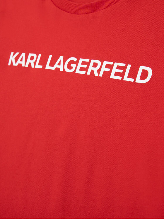 KARL LAGERFELD KARL LAGERFELD T-Shirt Z15222 M Czerwony Regular Fit