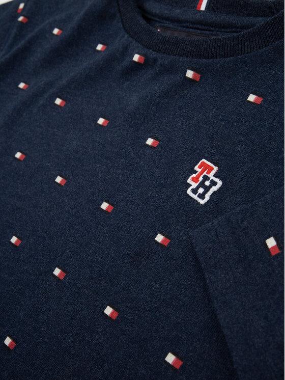 Tommy Hilfiger Tommy Hilfiger T-Shirt Jersey Flag Allover KB0KB05270 M Dunkelblau Regular Fit
