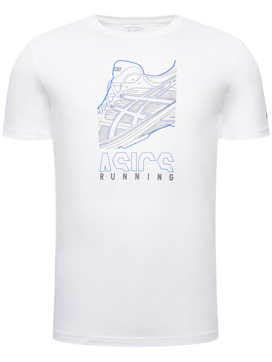 Asics Asics T-Shirt Running Graphic Tee 2031B353 Weiß Regular Fit