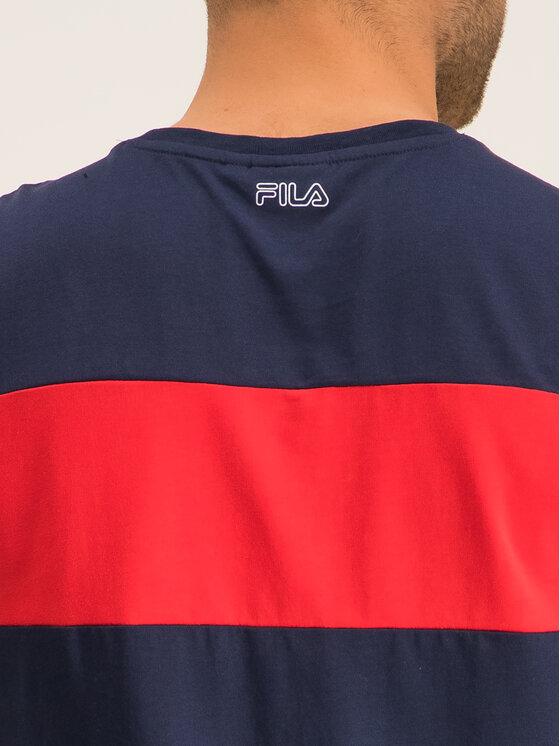 Fila Fila T-Shirt Aki Logo 687129 Granatowy Regular Fit