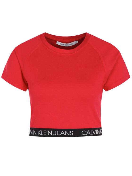 Calvin Klein Jeans Calvin Klein Jeans T-Shirt J20J212891 Czerwony Slim Fit