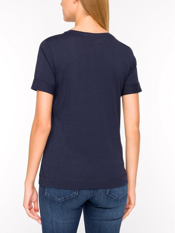 Tommy Hilfiger Tommy Hilfiger T-Shirt Kristal WW0WW25912 Tmavomodrá Regular Fit
