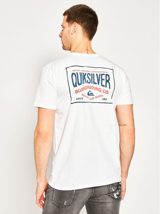 Quiksilver Quiksilver T-Shirt Cloud Corner EQYZT05772 Λευκό Regular Fit