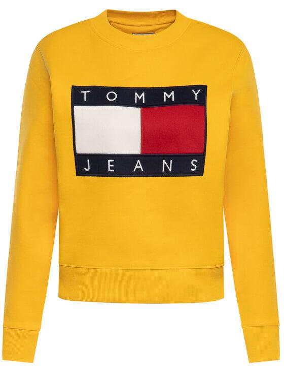 Tommy Jeans Tommy Jeans Суитшърт Tjw Flag Crew DW0DW07414 Жълт Regular Fit