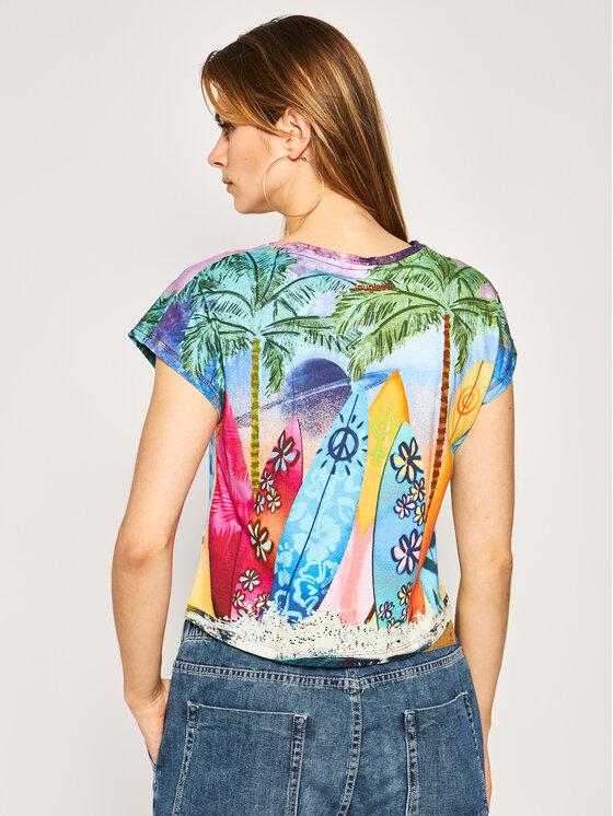 Desigual Desigual T-Shirt Surftrip 20SWTKAX Έγχρωμο Regular Fit