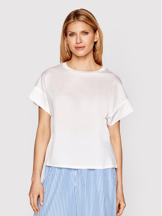 Weekend Max Mara T-Shirt Palma 59411611 Biały Regular Fit